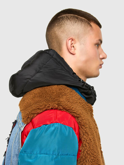 Diesel - W-HEROESY, Blue/Brown - Winter Jackets - Image 5