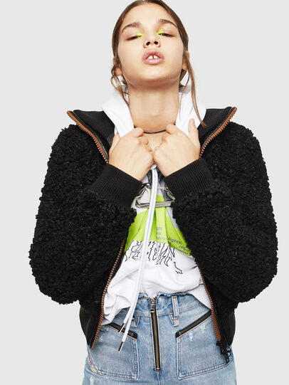 Diesel - L-TOSHA, Black - Leather jackets - Image 5