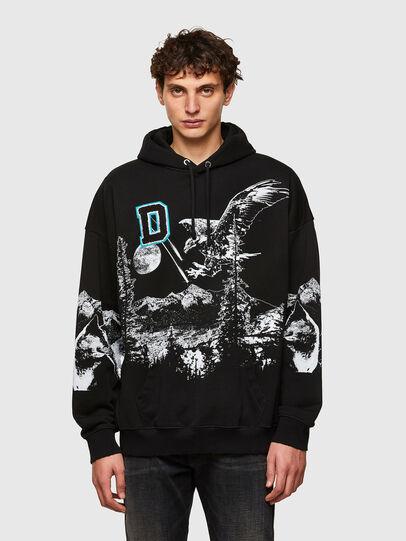 Diesel - S-UMMER-A82, Black - Sweatshirts - Image 1