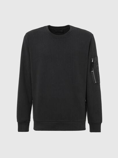 Diesel - S-IRIDIO, Black - Sweatshirts - Image 1
