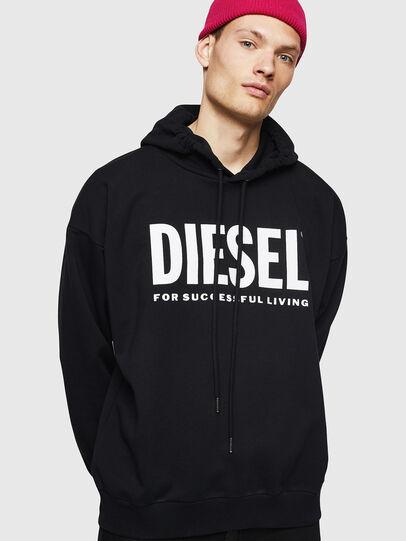 Diesel - S-DIVISION-LOGO, Black - Sweatshirts - Image 1