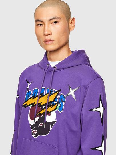 Diesel - CL-S-GIRK-HOOD-O1, Violet - Sweatshirts - Image 5