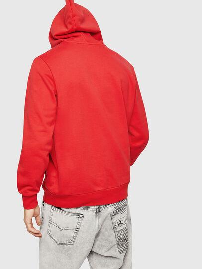 Diesel - S-GIR-HOOD-A1, Fire Red - Sweatshirts - Image 2