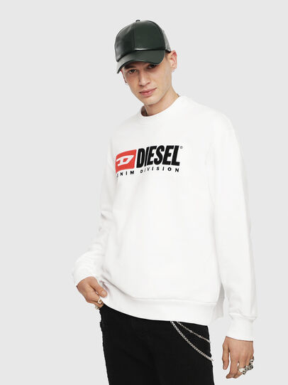 Diesel - S-CREW-DIVISION, White - Sweatshirts - Image 1