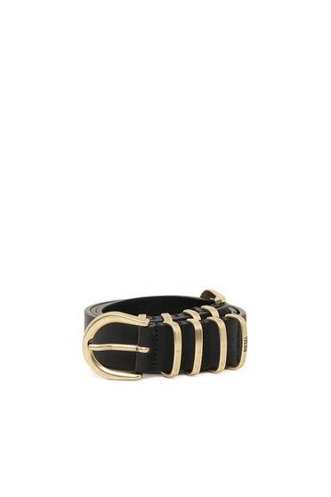 Cinturón de piel con diseño de nudos