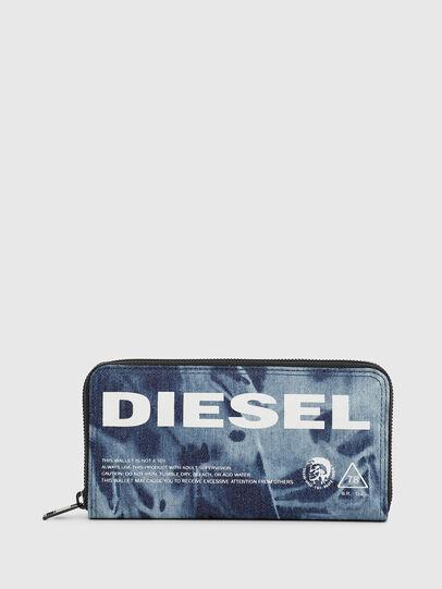 Diesel - 24 ZIP, Blue - Zip-Round Wallets - Image 1