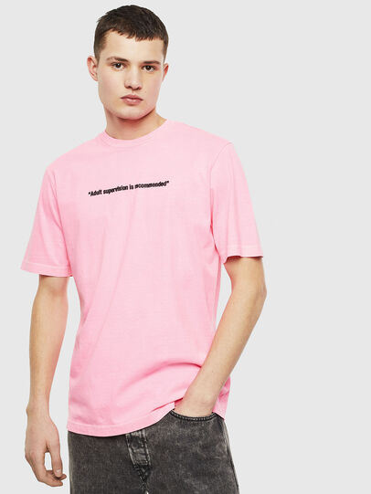 Diesel - T-JUST-NEON, Pink - T-Shirts - Image 1