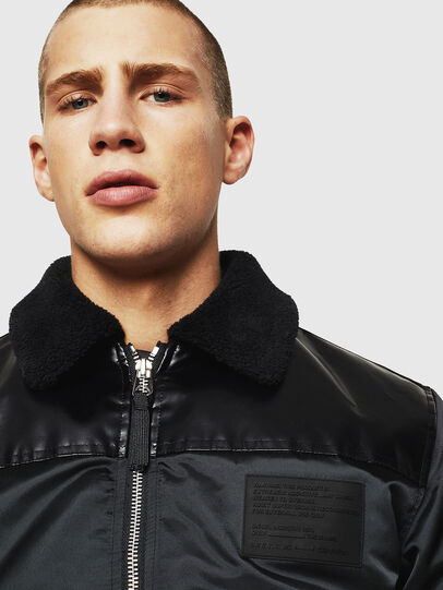 Diesel - W-FEDOVIK, Black - Winter Jackets - Image 3