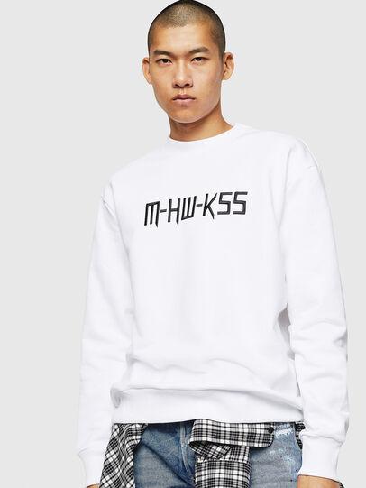Diesel - S-LINK-MOHAWK, White - Sweatshirts - Image 1