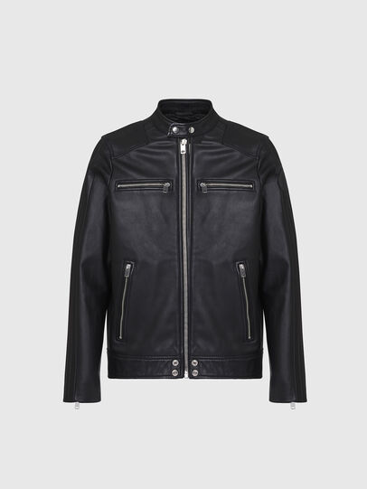 Diesel - L-BOY, Black - Leather jackets - Image 1