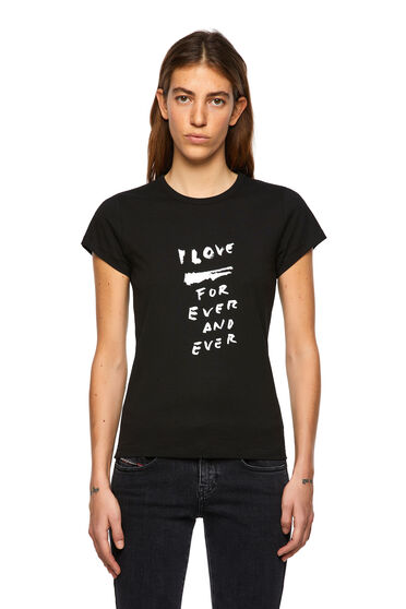 Camiseta con estampado Love for Ever