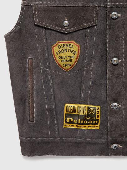 Diesel - DxD-4, Dark Grey - Leather jackets - Image 4