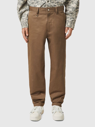 Pants in brushed stretch twill