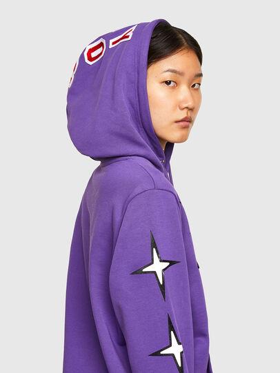 Diesel - CL-S-GIRK-HOOD-O1, Violet - Sweatshirts - Image 6