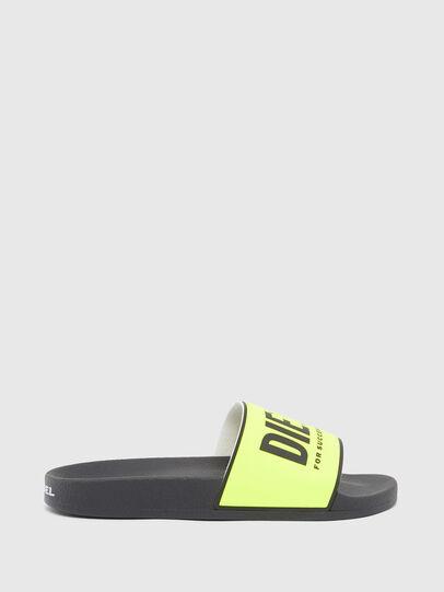 Diesel - SA-VALLA, Black/Yellow - Slippers - Image 1