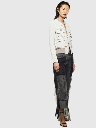 Diesel - L-CERITE, White - Leather jackets - Image 6
