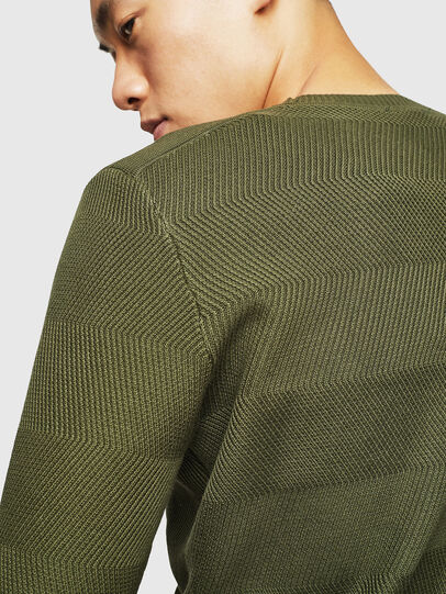 Diesel - K-STLE, Military Green - Sweaters - Image 4
