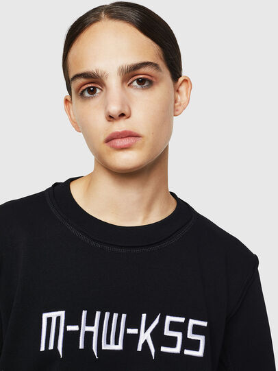 Diesel - F-LYANY-H, Black - Sweatshirts - Image 6