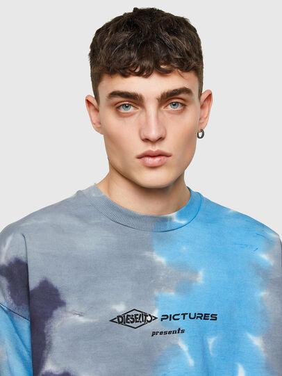 Diesel - S-MART-E4, Grey/Blue - Sweatshirts - Image 3