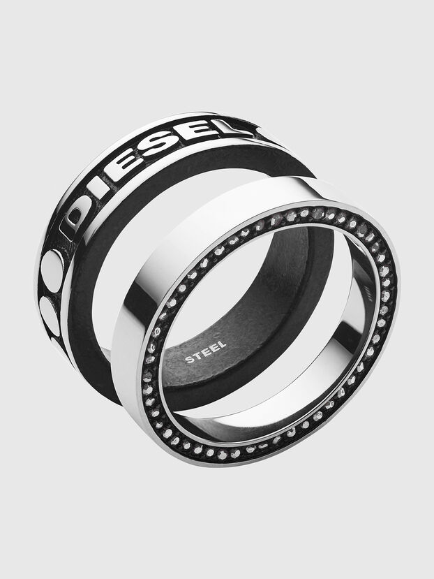 DX1170, Silver/Black - Rings