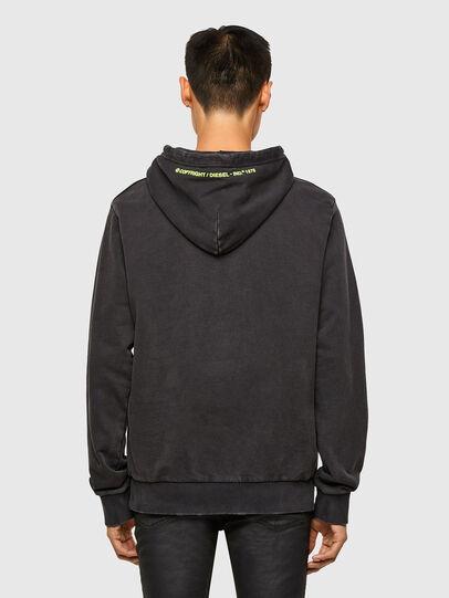 Diesel - S-GIRRIB-HOOD-A71, Black - Sweatshirts - Image 2