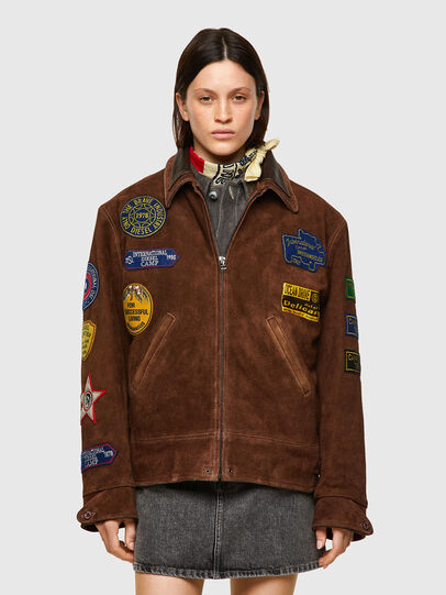 Diesel - DxD-3, Brown - Leather jackets - Image 3