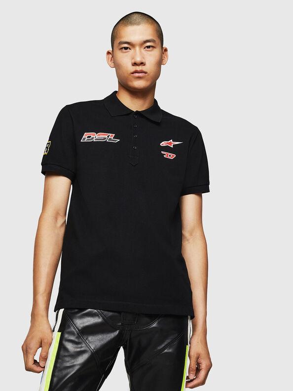 Polo shirt with racer prints