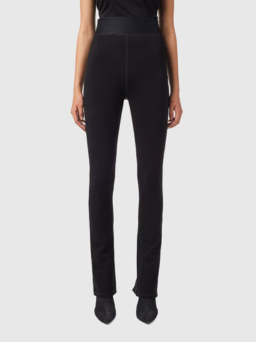 High-waist pants in Milano knit