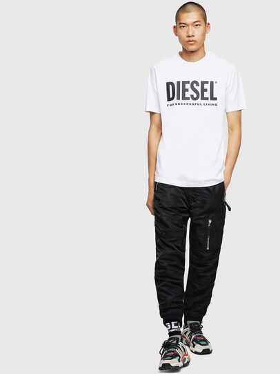 Diesel - T-JUST-LOGO, White - T-Shirts - Image 4