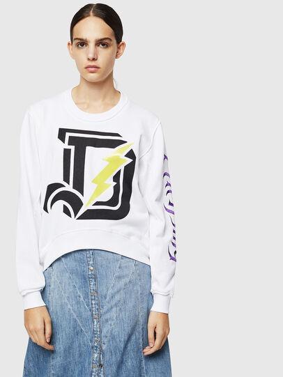 Diesel - F-LYANYDY-A, White - Sweatshirts - Image 1