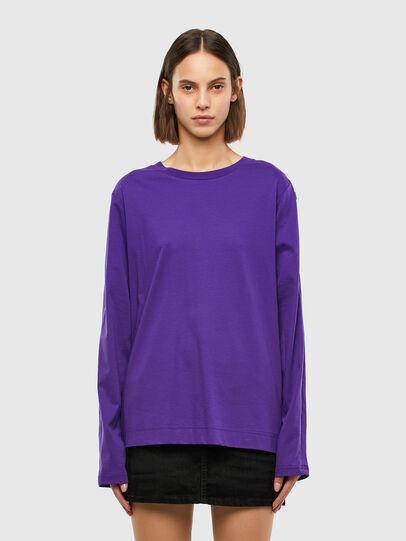 Diesel - T-ROSES, Violet - T-Shirts - Image 1
