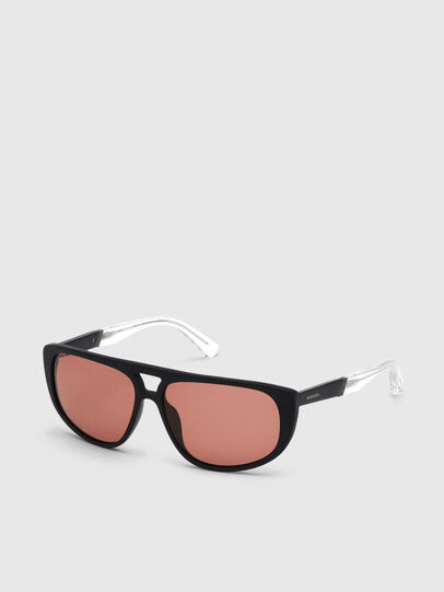 Diesel - DL0300, Black/White - Sunglasses - Image 2