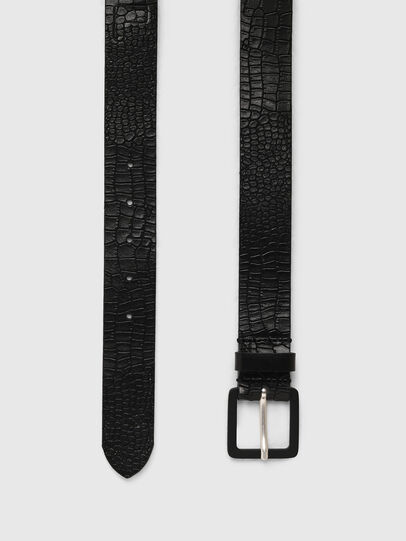 Diesel - B-CROCLE, Black - Belts - Image 3