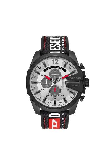 Mega Chief chronograph black nylon watch
