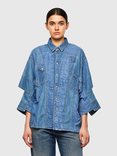 Diesel - DE-RINGLE-MM-SP, Azul medio - Camisas de Denim - Image 1