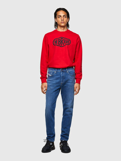 Diesel - D-Fining Tapered Jeans 09A80, Medium Blue - Jeans - Image 5