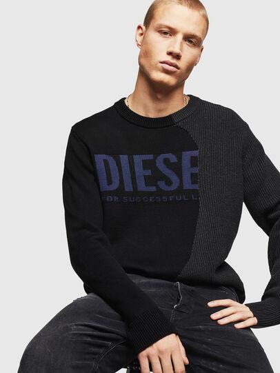Diesel - K-HALF, Black - Sweaters - Image 4