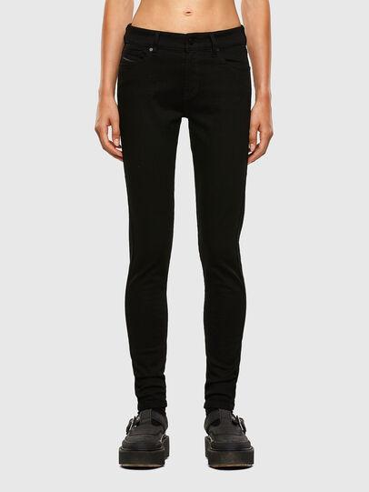 Diesel - Slandy Skinny Jeans 069EF, Black/Dark Grey - Jeans - Image 1