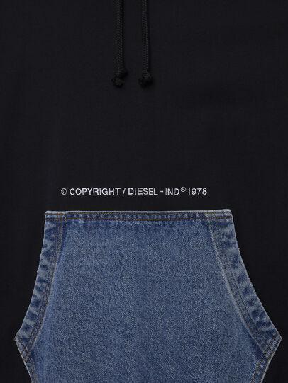 Diesel - S-THOS, Black - Sweatshirts - Image 4