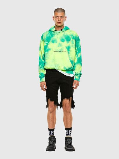 Diesel - S-ALBYEL-X4, Green/Yellow - Sweatshirts - Image 4