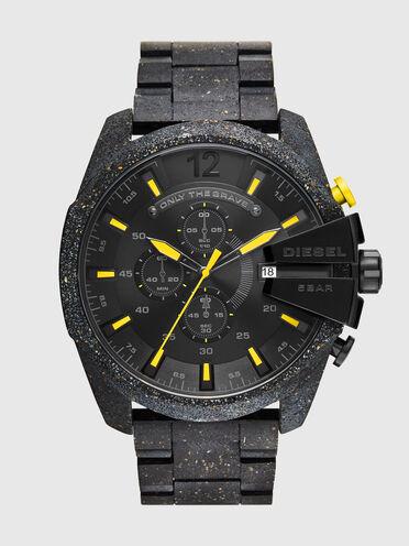 Mega Chief chronograph black concrete composite watch