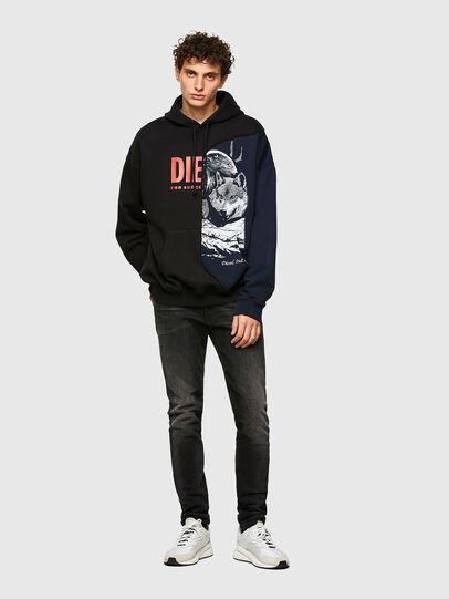 Diesel - S-BLASTY, Blue/Black - Sweatshirts - Image 4