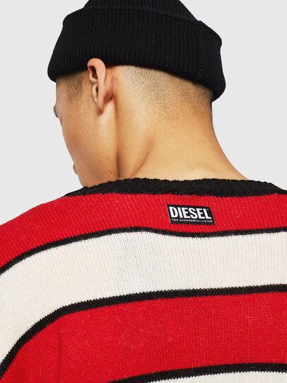 Diesel - K-LOVERY, Red/White - Sweaters - Image 6