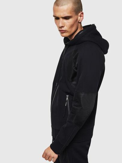 Diesel - S-IVAN, Black - Sweatshirts - Image 5