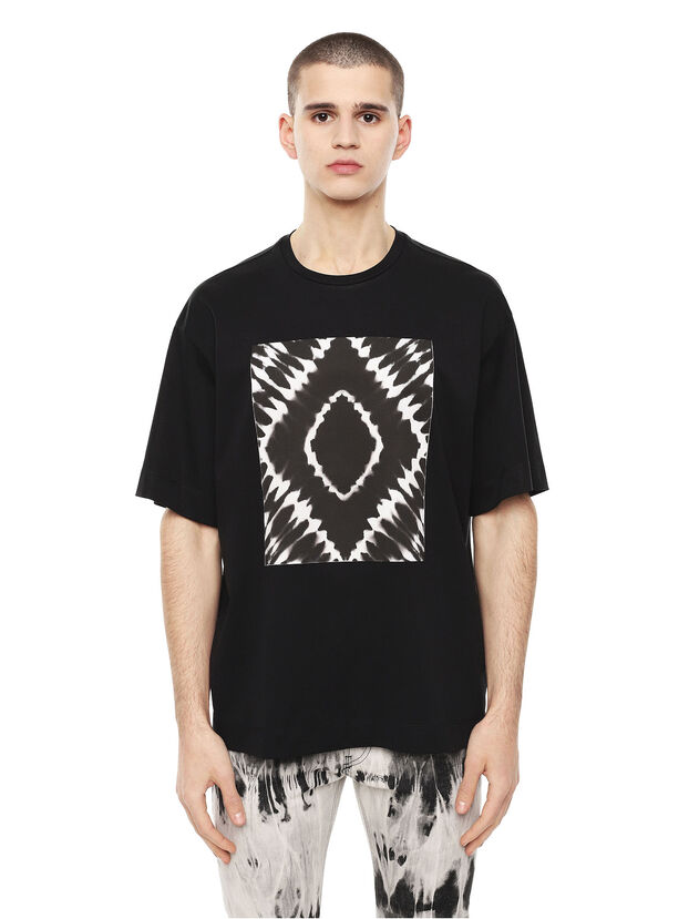TEORIA-TIEDYESQUARE, Black - T-Shirts