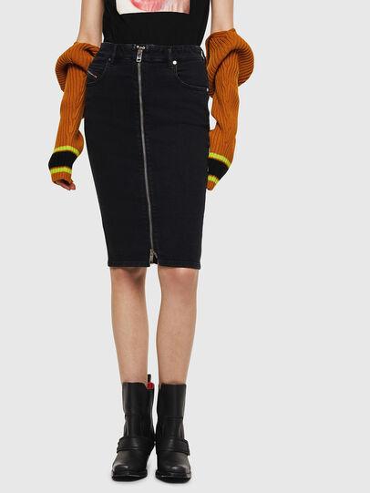 Diesel - DE-PENCIL-ZIP, Opaque Black - Skirts - Image 1
