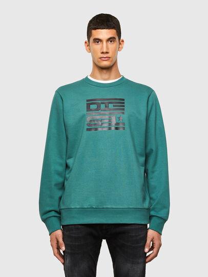 Diesel - S-GIRK-K15, Water Green - Sweatshirts - Image 1