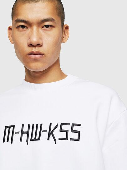Diesel - S-LINK-MOHAWK, White - Sweatshirts - Image 3