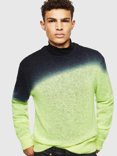 Diesel - K-TREAT, Yellow Fluo - Sweaters - Image 3