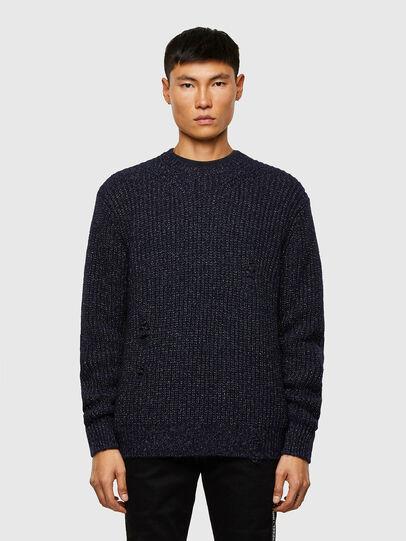Diesel - K-CARBON, Dark Blue - Sweaters - Image 1